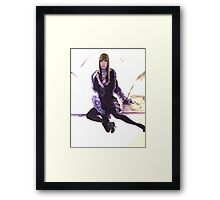 Purple Fur Framed Print