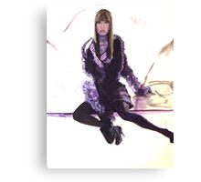 Purple Fur Canvas Print