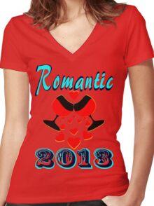 °•Ƹ̵̡Ӝ̵̨̄Ʒ♥Romantic 2013 Splendiferous Clothing & Stickers♥Ƹ̵̡Ӝ̵̨̄Ʒ•° Women's Fitted V-Neck T-Shirt