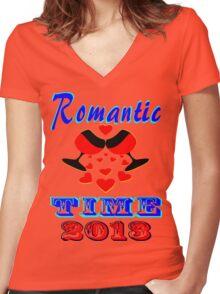 °•Ƹ̵̡Ӝ̵̨̄Ʒ♥Romantic Time 2013 Splendiferous Clothing & Stickers♥Ƹ̵̡Ӝ̵̨̄Ʒ•° Women's Fitted V-Neck T-Shirt