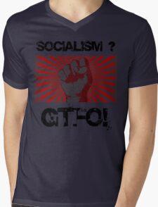 Socialism - Get the $@#! out. Mens V-Neck T-Shirt