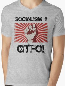 Socialism - Get the $@#! out. Mens V-Neck T-Shirt