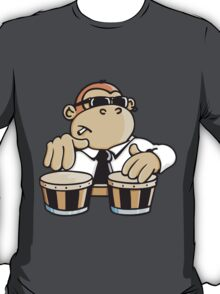 The cool monkey plays the bongos T-Shirt