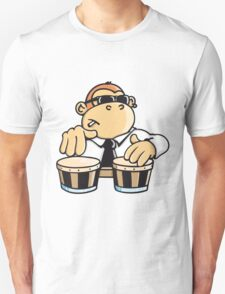The cool monkey plays the bongos Unisex T-Shirt