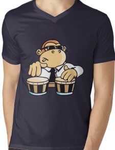 The cool monkey plays the bongos Mens V-Neck T-Shirt