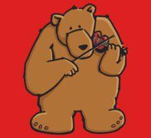 The bear plays violin One Piece - Short Sleeve