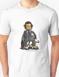 The Business Monkey drinks a coffee to go T-Shirt