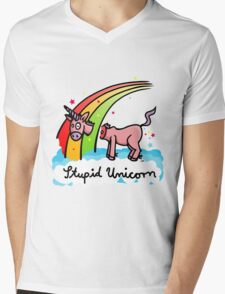 The stupid unicorn loses his head Mens V-Neck T-Shirt