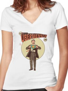 Übermensch Women's Fitted V-Neck T-Shirt