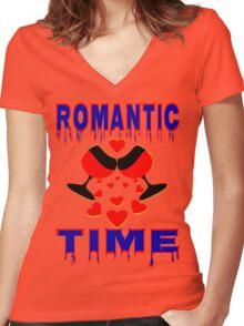 °•Ƹ̵̡Ӝ̵̨̄Ʒ♥Romantic Time Splendiferous Clothing & Stickers♥Ƹ̵̡Ӝ̵̨̄Ʒ•° Women's Fitted V-Neck T-Shirt