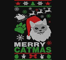 Merry Catmas Ugly Christmas Women's Fitted Scoop T-Shirt