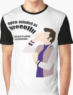 Open-minded as Helllll Graphic T-Shirt