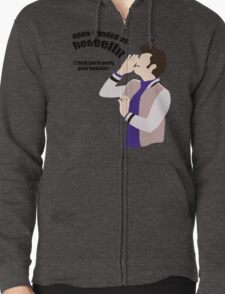 Open-minded as Helllll Zipped Hoodie