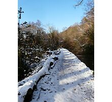 Snow Path Photographic Print