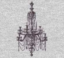 Vintage Illustration Chandelier by Vana Shipton