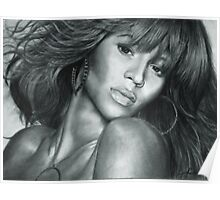 Beyonce Original Pencil Drawing Poster