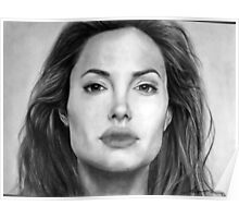 Angelina Jolie Original Pencil Drawing Poster