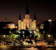 Jackson Square At Night by SuddenJim