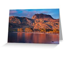 Slioch from Loch Maree, Scotland. Greeting Card