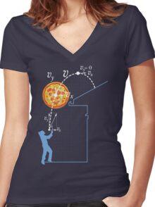 Breaking Bad Pizza Toss Women's Fitted V-Neck T-Shirt
