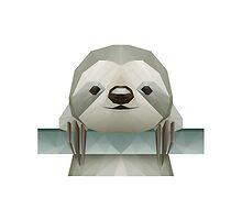 Polygonal Sloth by alee7spain