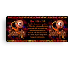 Valxart gothic Scorpio zodiac Born 10/24 to 11/21 1 and Ruled by the warrior qualities of Mars Canvas Print