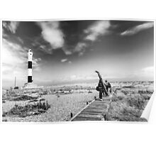 A surreal landscape at Dungeness Poster