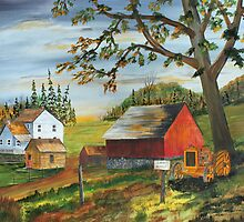 Hillside Farm by Jack G Brauer