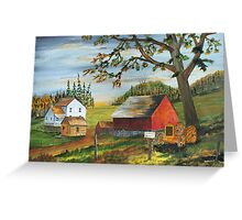 Hillside Farm Greeting Card