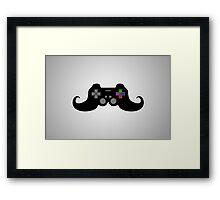 Gamer Moustache Framed Print
