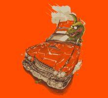 Dinosaur on a Cadillac by Verso