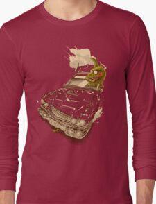 Dinosaur on a Cadillac Long Sleeve T-Shirt