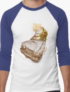 Dinosaur on a Cadillac Men's Baseball ¾ T-Shirt
