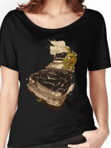 Dinosaur on a Cadillac Women's Relaxed Fit T-Shirt