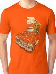 Dinosaur on a Cadillac Unisex T-Shirt
