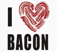 I Love Bacon One Piece - Short Sleeve