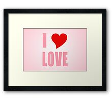 I Heart Love Framed Print