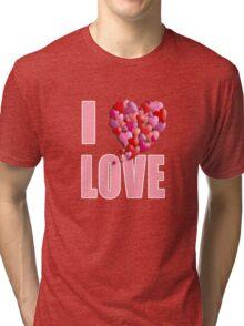 I Heartily Heart Love Tri-blend T-Shirt