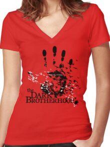 The Dark Brotherhood Women's Fitted V-Neck T-Shirt