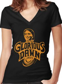 Glorious Dawn Women's Fitted V-Neck T-Shirt
