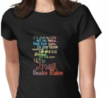 Snake Eater Womens Fitted T-Shirt