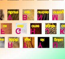 A-Z animals keyboard Sticker