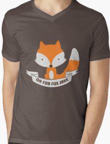 Oh For Fox Sake Girls funny nerd geek geeky Mens V-Neck T-Shirt