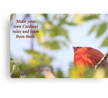 Make your own Cardinal rules and learn from them. Metal Print