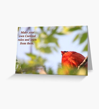 Make your own Cardinal rules and learn from them. Greeting Card