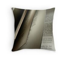 Flipping Through the Pages Throw Pillow