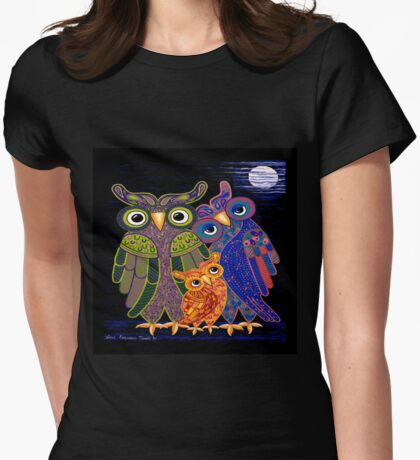 Owl I Want Is You (Square Version) Womens Fitted T-Shirt