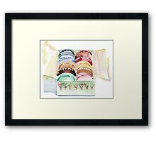 Macarons Box. Framed Print