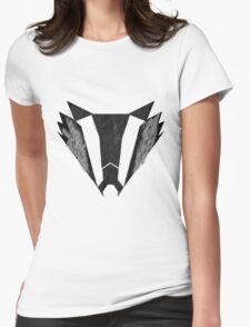 badger furry Womens Fitted T-Shirt
