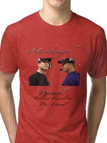 Harbaugh Bowl-Sibling Rivalries Die Hard Tri-blend T-Shirt